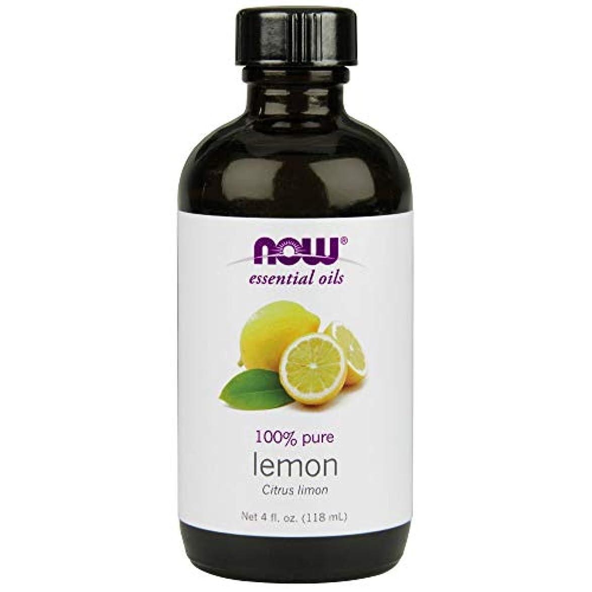 程度簡潔な合法ナウフーズエッセンシャルアロマオイル レモン 118ml 【正規輸入品】