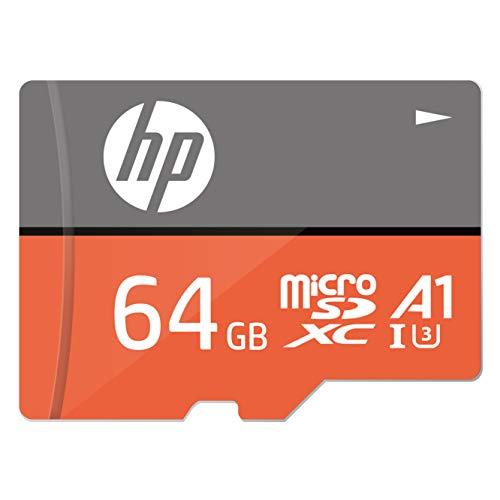 『【Amazon.co.jp 限定】HP microSDXCカード 64GB オレンジ A1 UHS-I(U3) 4K Ultra HD対応 最大読出速度100MB/s 1年間保証』のトップ画像