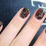 Metal Nail Art Decor, Rhinestones Acrylic, Metallic Sticker, Nail Polish