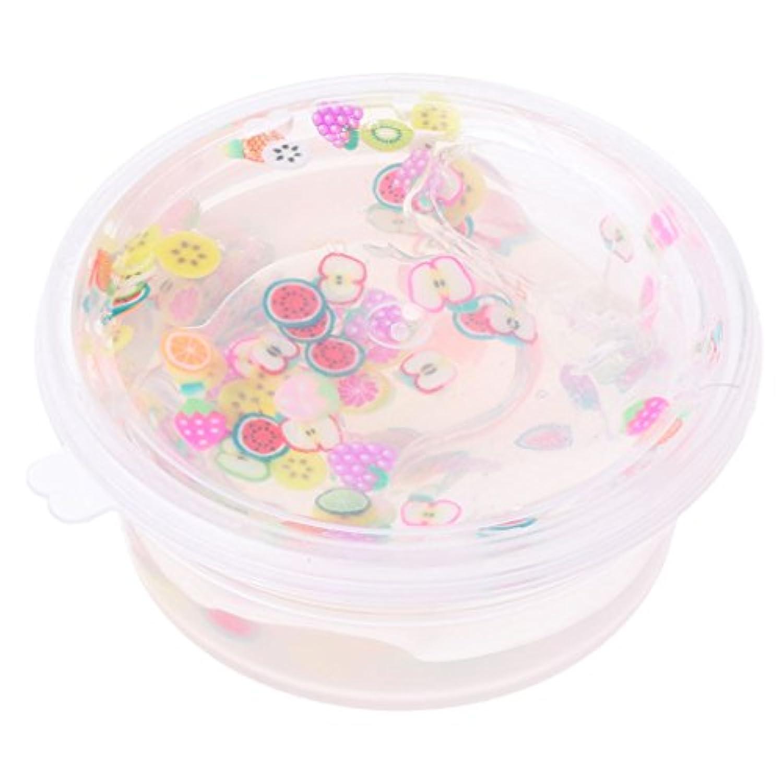 Fanct DIY フルーツ クリスタル スライム 粘土 おもちゃ スライム マッド ソフト スクイーズ プラスチック マッド おもちゃ ギフト ストレス解消 子供用 教育 6.5*6.5*3.2cm マルチカラー Fanct