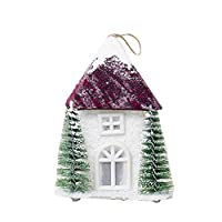Bolange 暖かい光を集めてクリスマスツリーの家の装飾品、美しい装飾の光プラスチックでクリスマスツリーの家クリスマスの装飾(茶色)