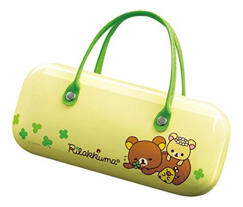 パール メガネケース リラックマ ハード タイプ ハンドバッグ-1 グリーン