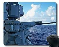 賭博のマウスパッドの習慣、ステッチされた端が付いている軍の海軍銃のマウスパッド