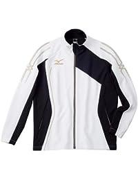 ミズノ ウォームアップシャツ 32MC501001 ホワイト×ブラック XS