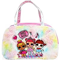LOL Surprise Fur Rainbow Duffel Bag for Girls