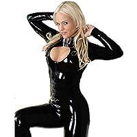 Fashion Queen Women's Faux Leather Cape Cloak Costume Various Sizes (Black)