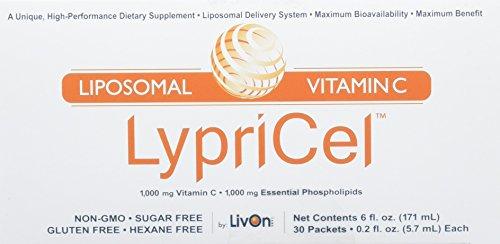液状サプリメント ビタミンC1000mg 30包 Lypricel, Liposomal Vitamin C, 30 Packets 海外直送 並行輸入