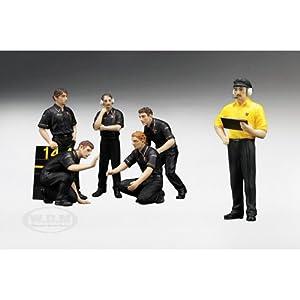 F1 Pit Crew Figurines JPS Team Lotus 1977 Set of 6 pc 1/18 by True Scale Miniatures サイズ : 1/18 [並行輸入品]