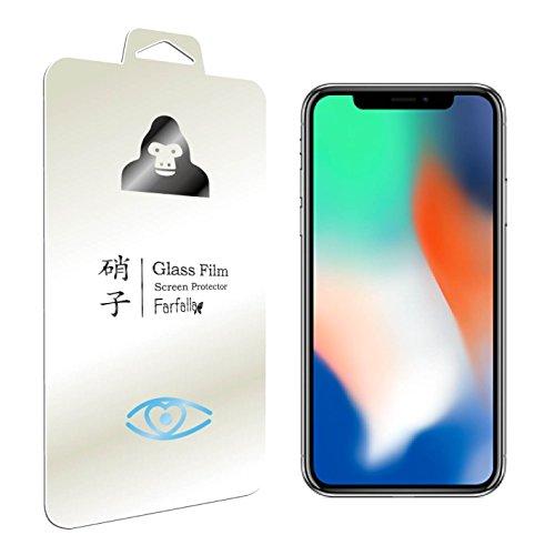 Farfalla Apple iPhone X[ブルーライト92%カット / CORNING® GORILLA® GLASS 4使用 / 3D Touch対応 / 硬度9H / オイルコーティング / 飛散防止]ガラスフィルム 0.3mm