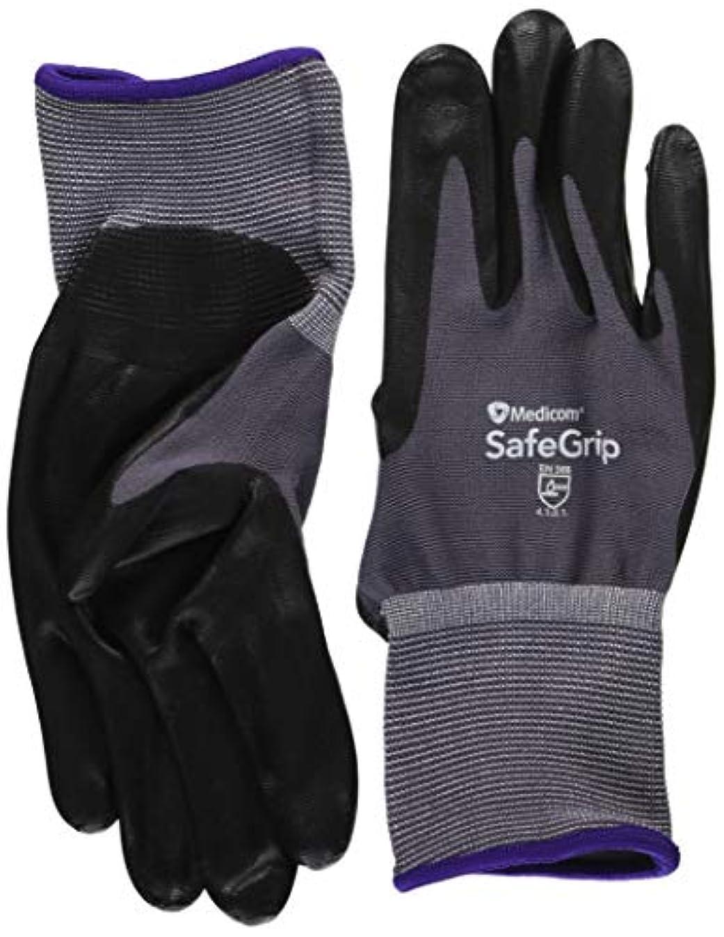フォアタイプモニター靴下セーフグリップ ニトリルグローブ Mサイズ 12双入 SAGGN1152C
