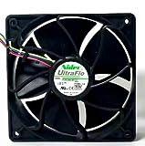 Yuebangkeji NIDEC V12E12BS1B5-07 DC12V 1.85A 4ワイヤ 4ピン PWM 冷却ファン 6500RPM、70.5DBA、267CFM