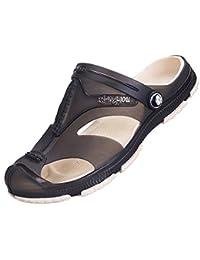 (クイブー)KUIBU メンズファッション シンプルデザイン リゾート感満点 通気軽量 アウトドア 柔らか 疲れにくい 滑りとめ 水陸両用 サンダル 爽やかな靴 夏の靴 スリッポン ローヒール フラットサンダル ビーチサンダル