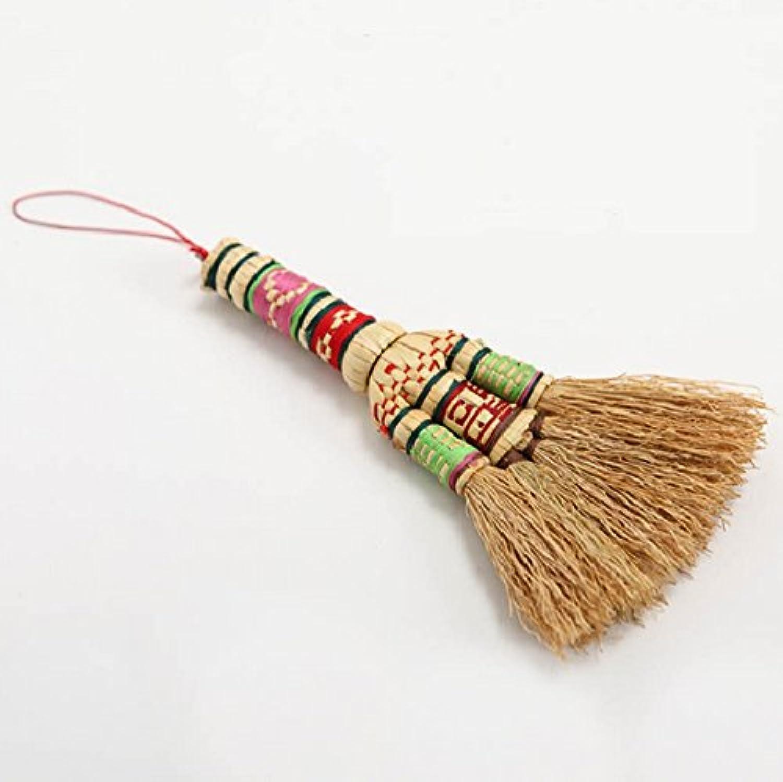 天然素材の室内用ほうき     モロコシ  ほうき   短柄   清掃商品