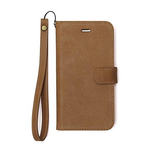 【日本正規代理店品】Zenus iPhone7 ケース Vintage Diary ビンテージブラウン 手帳型 本革 アイフォン カバー Z44595i7