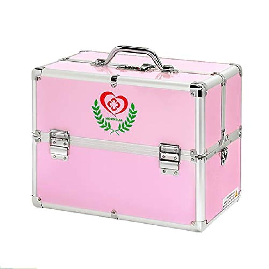 ベルト忘れるギネスKKYY キーロックボックスの薬箱ポータブル救急箱、金属製の薬の収納ボックス、強力な3桁の組み合わせのキー収納ボックス(2色)