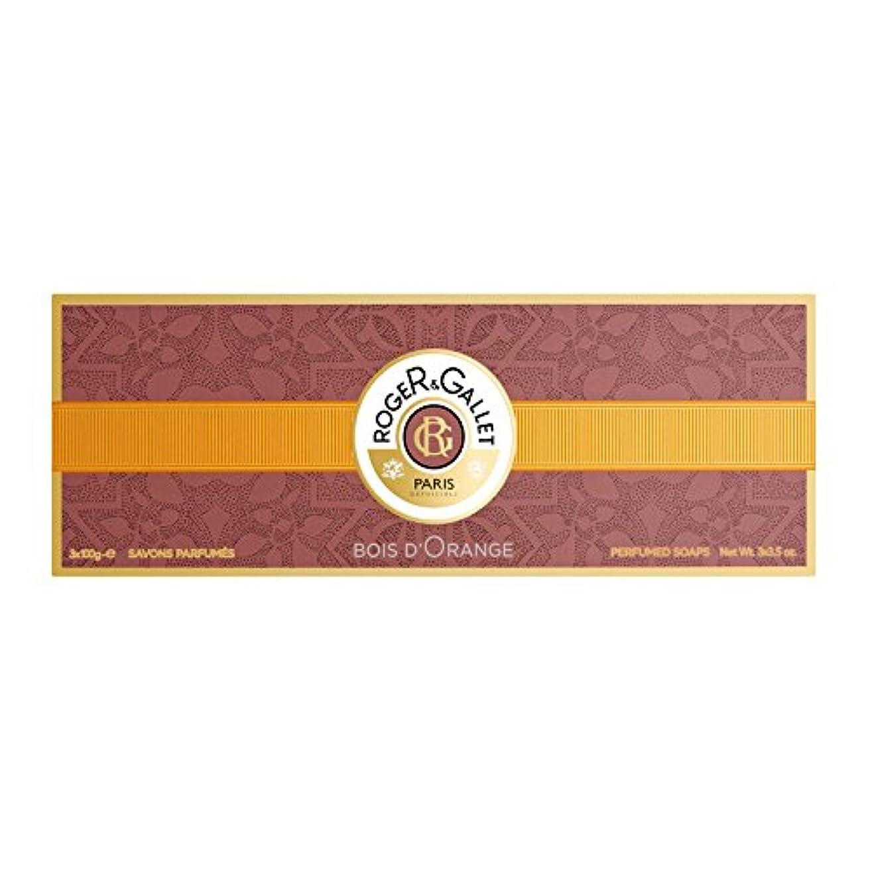 チーズ告白する腐敗したロジェガレ ボワ ドランジュ (オレンジツリー) 香水石鹸 3個セット 100g×3 ROGER & GALLET BOIS D'ORANGE PERFUMED SOAP [並行輸入品]