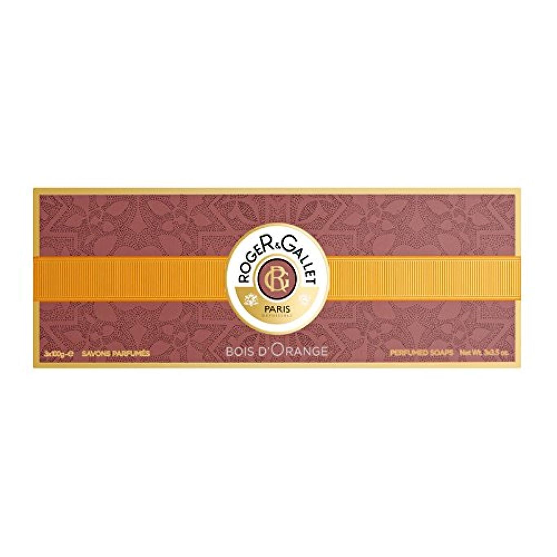 日食チョコレートソビエトロジェガレ ボワ ドランジュ (オレンジツリー) 香水石鹸 3個セット 100g×3 ROGER & GALLET BOIS D'ORANGE PERFUMED SOAP [並行輸入品]