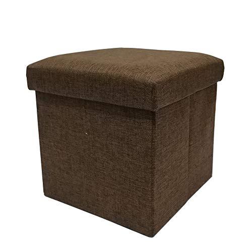 Snifu 収納スツール 収納ボック 折りたたみ 小物整理 おもちゃく箱 収納ベンチ・椅子 スペース活用 耐荷重 80kg ブラウン