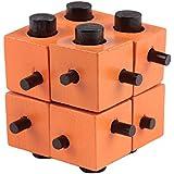 YIGO パズルゲーム モンテッソーリ教育 木製 孔明パズル 3D立体パズル 知恵おもちゃ 知的玩具 ジグソーパズル 組み合わせ推理力パズル 幼児/大人知的玩具
