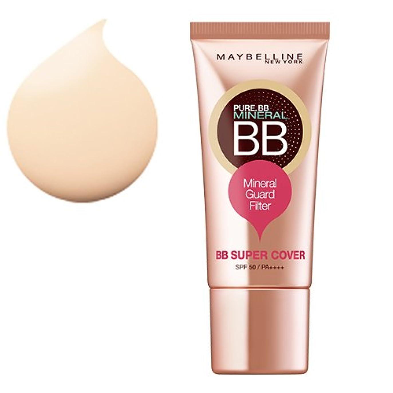 滴下順番昇るメイベリン BBクリーム ピュアミネラル BB SP カバー 01 ナチュラル ベージュ