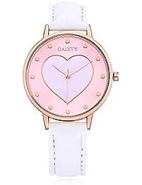 Rockyu ブランド カップル ペアウォッチ 時計 オシャレ サファイアガラス 海外ブランド ホワイト 心 カップル腕時計