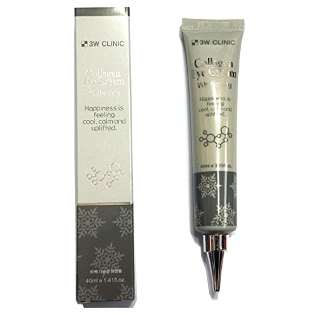 はぁ選択散逸[3W CLINIC] コラーゲンアイクリームホワイトニング40ml X 1ea / Collagen Eye Cream Whitening 40ml X 1ea / しっとりしっとり / Anti wrinkles, moist / 韓国化粧品 / Korean Cosmetics [並行輸入品]