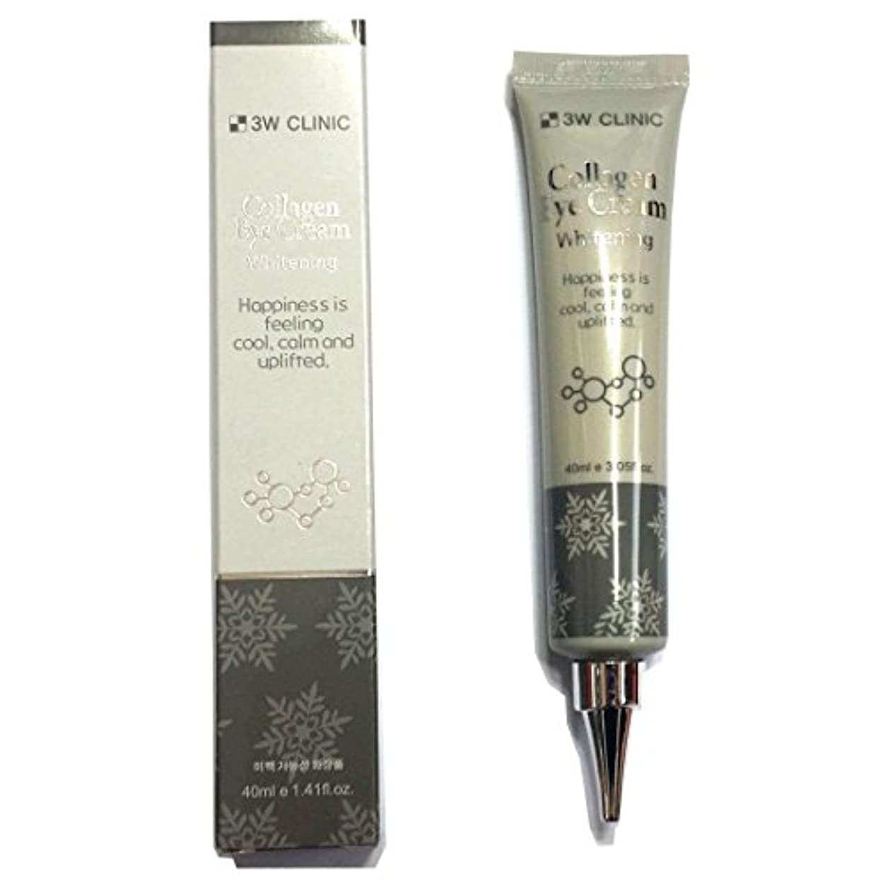 [3W CLINIC] コラーゲンアイクリームホワイトニング40ml X 1ea / Collagen Eye Cream Whitening 40ml X 1ea / しっとりしっとり / Anti wrinkles,...