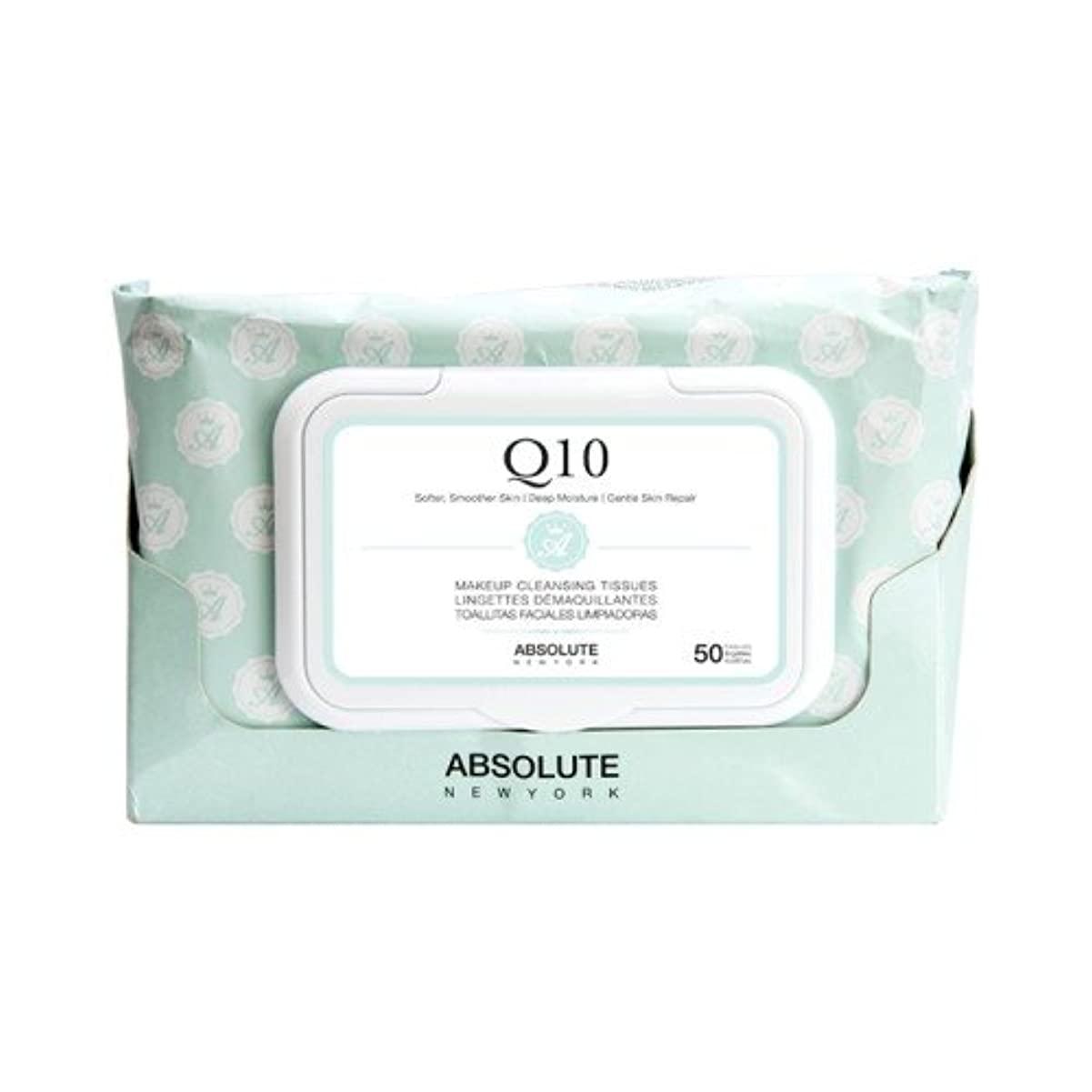 逸話やめる(3 Pack) ABSOLUTE Makeup Cleansing Tissue 50CT - Q10 (並行輸入品)