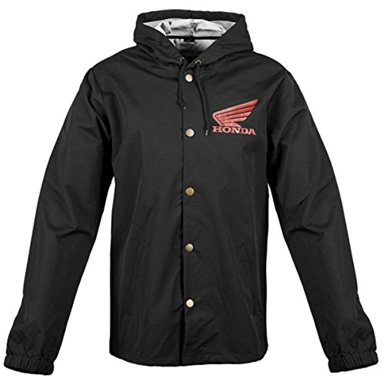 ピービッシュファックススナップホンダビッグウィングウィンドブレーカージャケット、性別:メンズ/ユニセックス、主な色:ブラック、サイズ:L、別名:ブラック、アパレル素材:テキスタイル