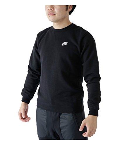 ナイキNIKE クラブ フレンチテリー クルー 804343 010 ブラック/ホワイト XL