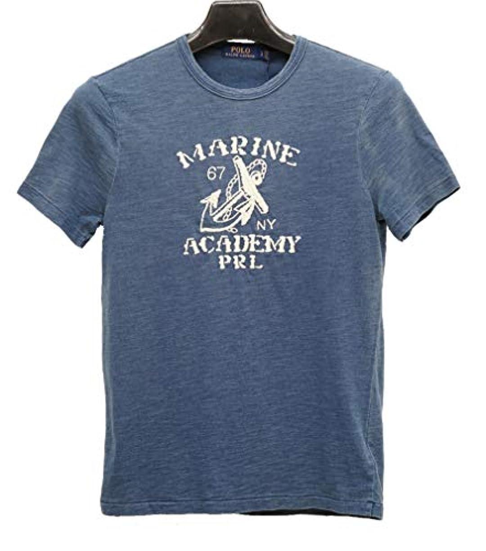 とティーム濃度バリア(ラルフローレン) Ralph Lauren アンカー刺繍 本藍染め コットン Tシャツ ダークインディゴ メンズ Custom Slim Fit Cotton T-Shirt 並行輸入品 [並行輸入品]