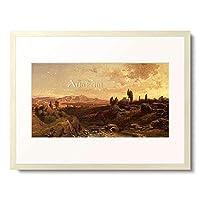 Bamberger, Fritz,1814-1873 「Mountain scenery in Spain. 1870.」 額装アート作品