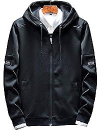 パーカー メンズ ボタン スウェット コート 厚手 裏起毛 トップス 無地 長袖 服 メンズ フード付 春秋冬