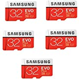 Samsung MicroSD EVO Plus Series Micro SDHC Memory Card with Adapter 32GB x 5
