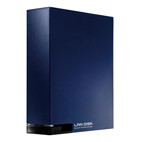 I-O DATA NAS 2TB スマホ/タブレット対応 ネットワークハードディスク 入門モデル HDL-T2NV 1年保証付き ミレニアム群青
