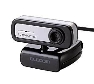 エレコム WEBカメラ 200万画素 マイク内蔵 MAC対応 ブラック UCAM-C0220FBNBK