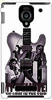DM016sh Disney Mobile on SoftBankアクオスフォン ダブルエックス ケース ip1013 ギター Grils ロゴ ハード ケース カバー ジャケット softbank