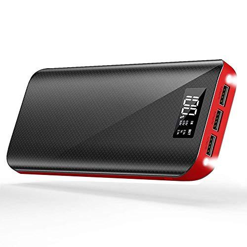 モバイルバッテリー 24000mAh 大容量 三台同時充電 スマホ 急速充電 3USB出力ポート(2.1A+2.1A+1A) 地震/災...