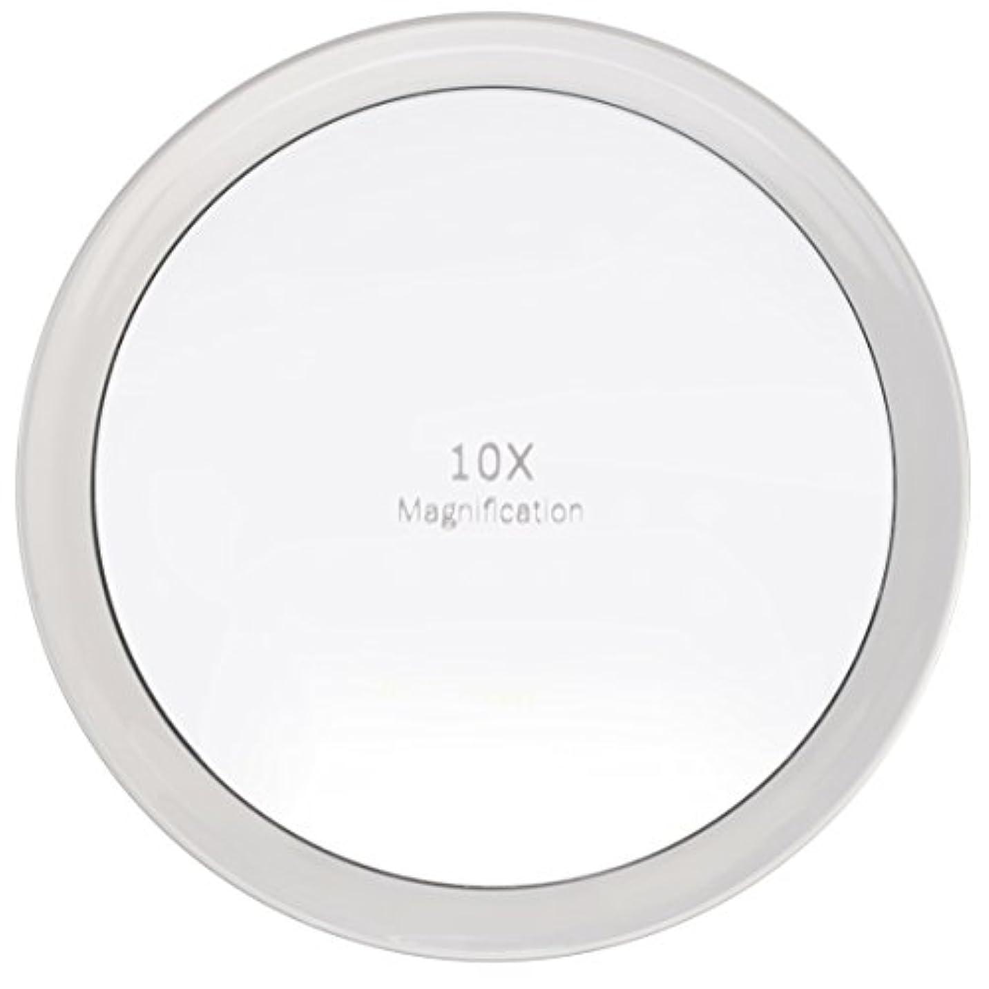リズミカルなエンターテインメントデコラティブMiss Sweet 吸盤付きミラー 拡大鏡 化粧鏡 (A: 10倍 19.5cm)