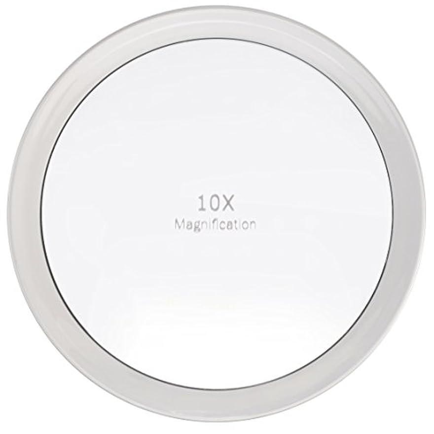 興奮後者熟考するMiss Sweet 吸盤付きミラー 拡大鏡 化粧鏡 (A: 10倍 19.5cm)