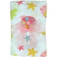 Stephan Baby Go Fish Cotton Muslin Swaddle Blanket, Pink Fishes by Stephan Baby [並行輸入品]