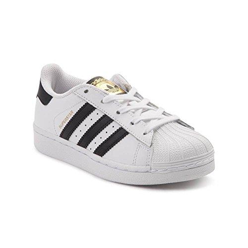 (アディダス) adidas 靴・シューズ キッズスニーカー Youth adidas Superstar Athletic Shoe White/Black ホワイト/ブラック US 2 (21.5cm)
