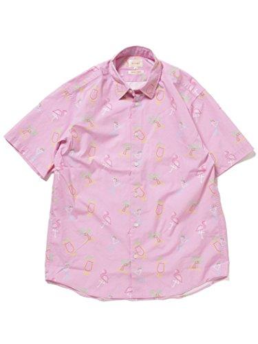 (ビームス) BEAMS/ネオンプリントシャツ PINK M 11010788803