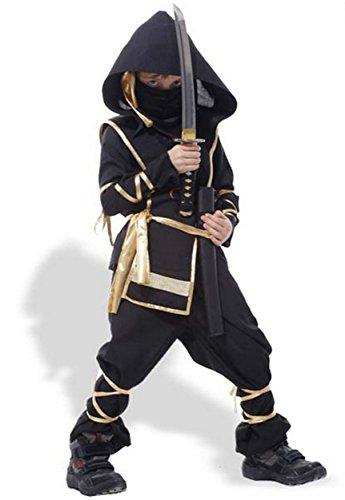 憧れの忍者になれる キッズ 子供用 忍者 コスプレ 衣装 ハロウィン 仮装 パーティー (Mサイズ)