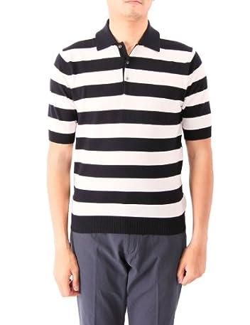 Stripe Polo Sweater 1118-106-0155: Navy
