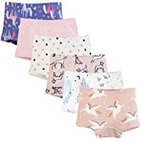 Tongo Girls' Underwear Cotton Briefs (Pack of 6)