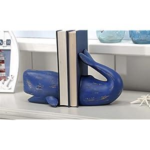 Blue Whale Figure フィギュア Bookends [並行輸入品]