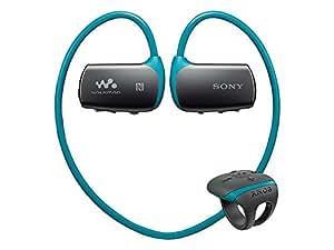ソニー SONY ヘッドホン一体型ウォークマン Wシリーズ NW-WS615 : 16GB スポーツ用 防水/Bluetooth対応 リングタイプリモコン付属 ブルー NW-WS615 L
