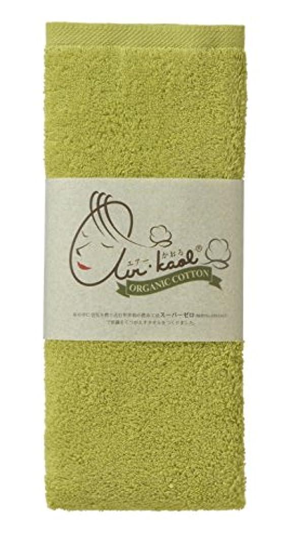 有名人トレッド情熱的タオル エアーかおる ダディボーイ エニータイム 32×120cm オーガニックコットン100% 綿100 (ピスタチオグリーン)