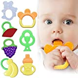 Ardorlove Baby Teether Teething Toy Infant Fruit Feeder Food Toys (Color : 2# Banana)